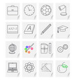 set of sixteen images - icons for a school vector image vector image