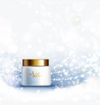 skin care cosmetics cream holiday gift light vector image vector image