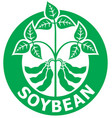 soybean label vector image