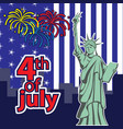 statue liberty 4th july american independence vector image vector image