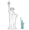 Statue of Liberty coloring book Symbol of freedom vector image