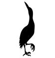 Stork Bird Silhouette vector image vector image