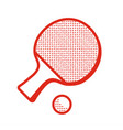 Tabble tennis racket icon