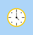 template clock in flat design clock in white vector image vector image