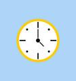 template clock in flat design clock in white vector image