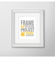 Wall photo frame square icon vector image