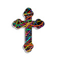 colorful orthodox cross vector image