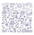 children dreams hand drawn of vector image