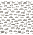 seamless car pattern vector image
