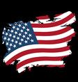 USA flag grunge style on black background Brush vector image