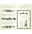 Set ornaments tattoo vector image