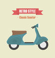 114classic scooter vector image
