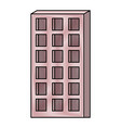 apartment building icon in colored crayon vector image vector image