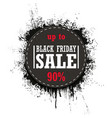 black friday sale isolated on a white vector image vector image