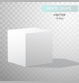 blank box on white background with reflection vector image