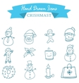 Blue icon Christmas collection stock vector image vector image
