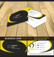 business card template editable design with front vector image vector image