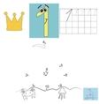 Children s math homework Digit one Points ship vector image