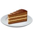 chocolate bisquit tart vector image