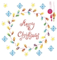 christmas congratulation card vector image