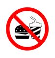 Circle No Food and Drink Sign vector image vector image