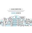 Cloud Computing - line design website banner vector image vector image