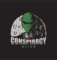 conspiracy alien vector image vector image