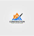 construction logo template logos for business vector image