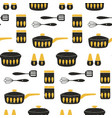 cooking repetitive background for kitchen vector image vector image