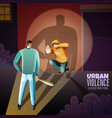 crime violence poster vector image