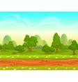 Cute cartoon seamless landscape vector image vector image