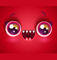 cute face monster for halloween vector image vector image