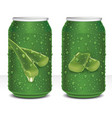 design aloe vera juice healthy drink in can vector image