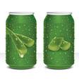 design aloe vera juice healthy drink in can vector image vector image