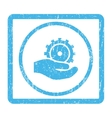 Development Service Icon Rubber Stamp vector image vector image