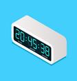 digital electric alarm clock isometric view vector image