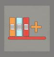 flat shading style icon shelf folder vector image vector image