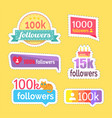 follow and followers information numbers vector image vector image