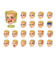 fourth set of male facial emotions vector image vector image