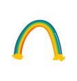 funny rainbow hand-drawn comic style doodle vector image vector image