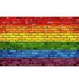 Gay pride flag on a brick wall vector image vector image