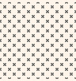 geometric ornamental seamless pattern with flowers vector image