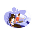 guy and girl driving in car vector image