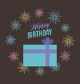 happy birthday kawaii gifts vector image vector image