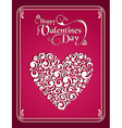 Happy Valentines day vintage heart background vector image