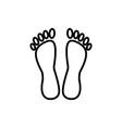 heelspedicure line icon sign vector image vector image