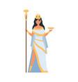 hera greek goddess ancient mythology character vector image vector image