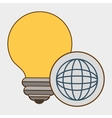 idea global connection icon vector image vector image