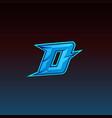 initial d gaming logo design template inspiration vector image