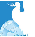 international day peace dove over world vector image vector image